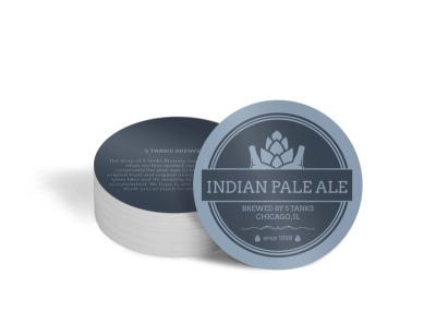 Indian Pale Ale Circle Coaster Template preview