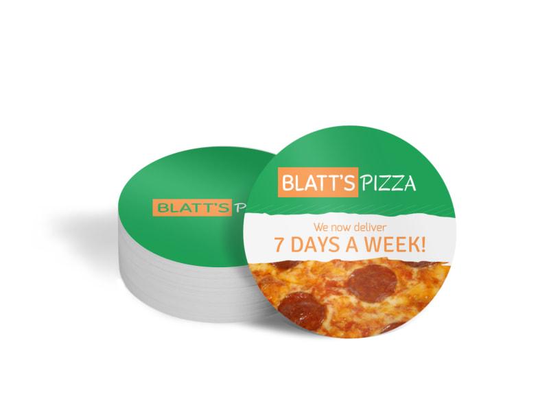 Blatt's Pizza Circle Coaster Template