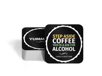 Funny Quote Square Coaster Template