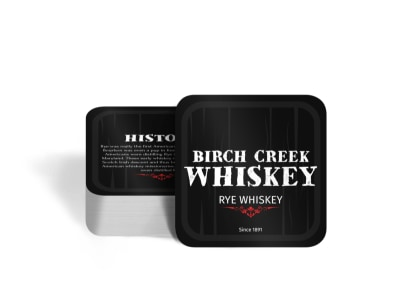 Birch Creek Whiskey Square Coaster Template preview