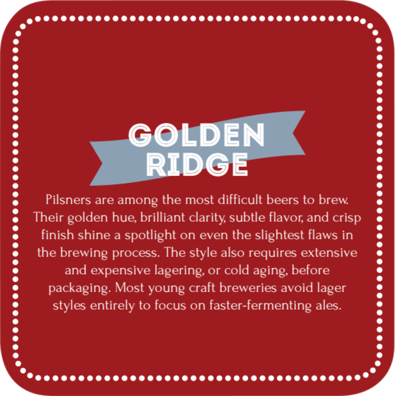Golden Ridge Beer Coaster Template Preview 3