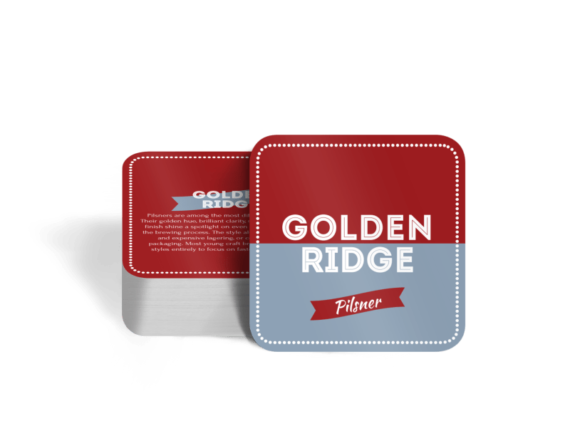Golden Ridge Beer Coaster Template Preview 1
