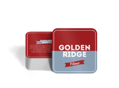 Golden Ridge Beer Square Coaster Template preview