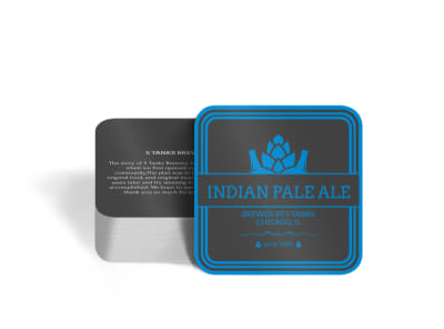 Indian Pale Ale Square Coaster Template preview