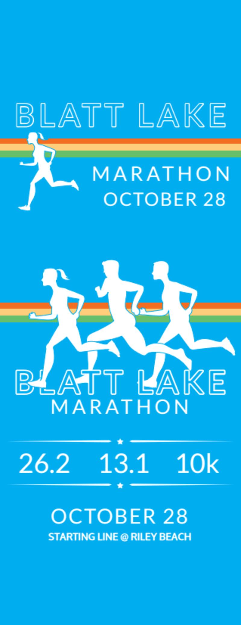 Blatt Lake Marathon Ticket Template Preview 2