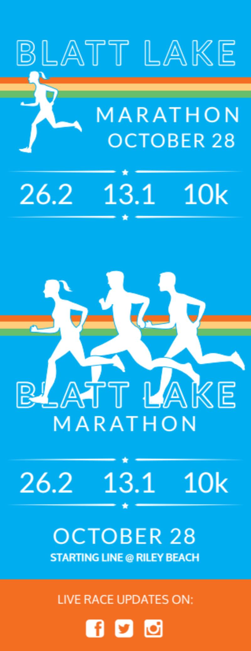 Blatt Lake Marathon Ticket Template Preview 3