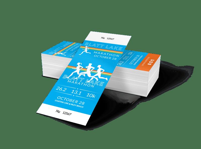 Blatt Lake Marathon Ticket Template Preview 1