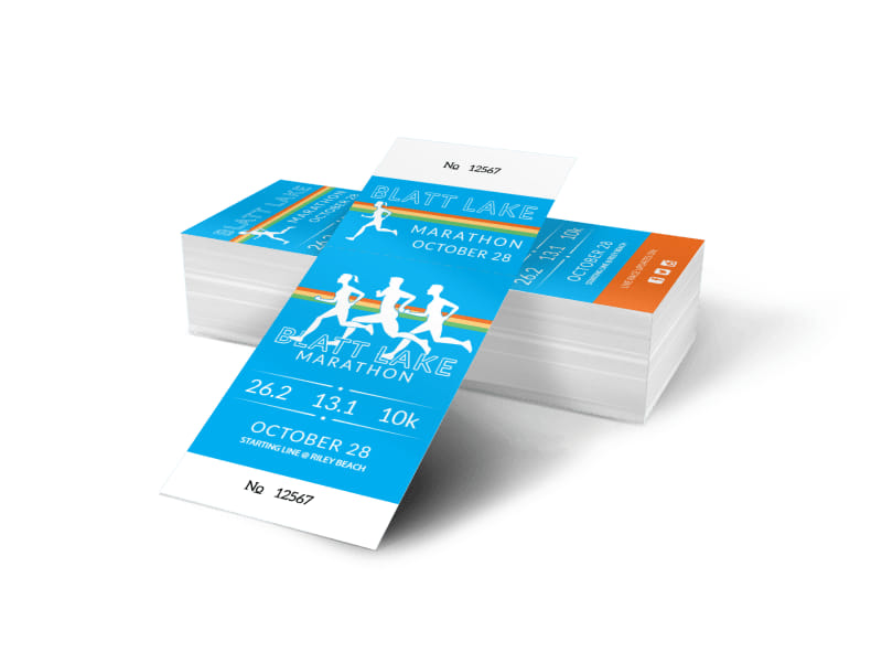 Blatt Lake Marathon Ticket Template