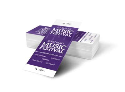 Glass Paint Music Festival Ticket Template preview