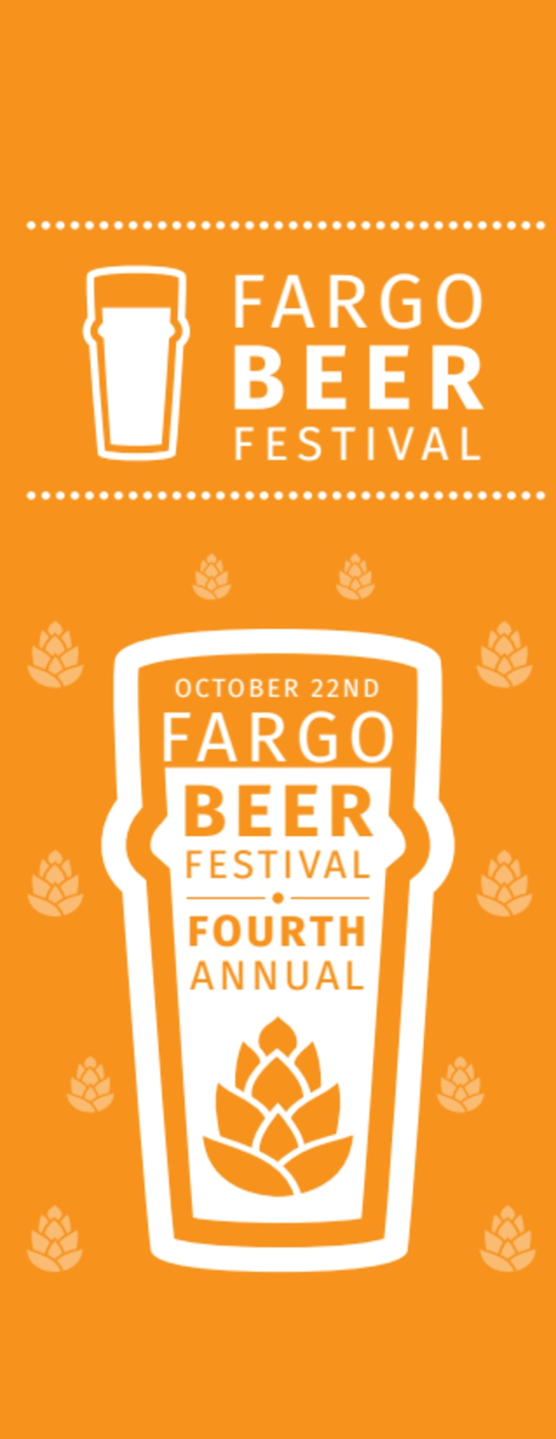 Fargo Beer Festival Ticket Template Preview 2
