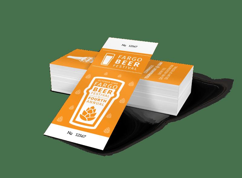 Fargo Beer Festival Ticket Template Preview 1