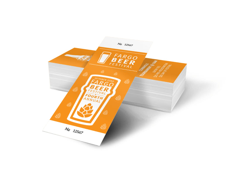 Fargo Beer Festival Ticket Template