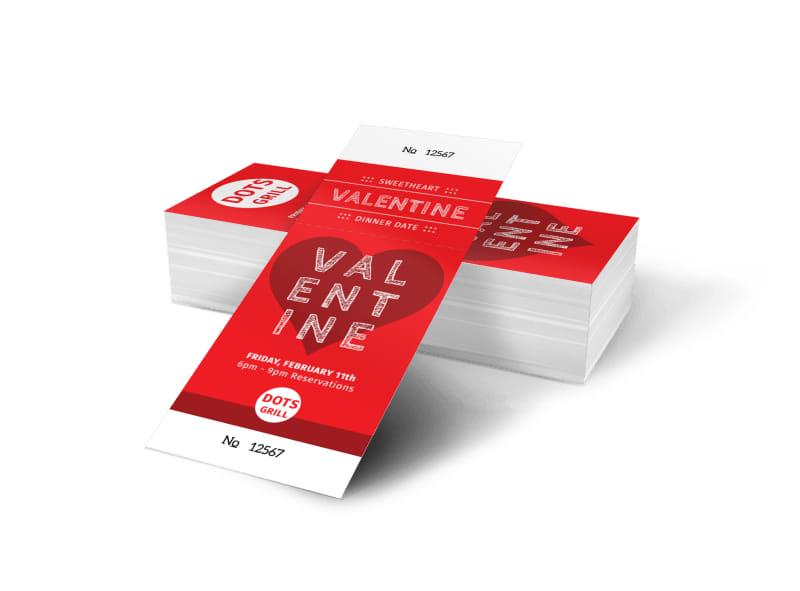 Valentine Dinner Ticket Template Preview 4