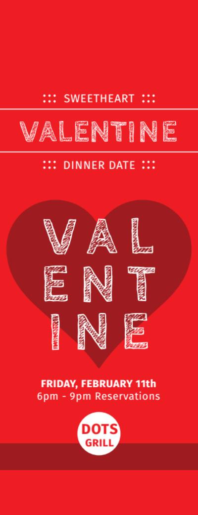 Valentine Dinner Ticket Template Preview 1