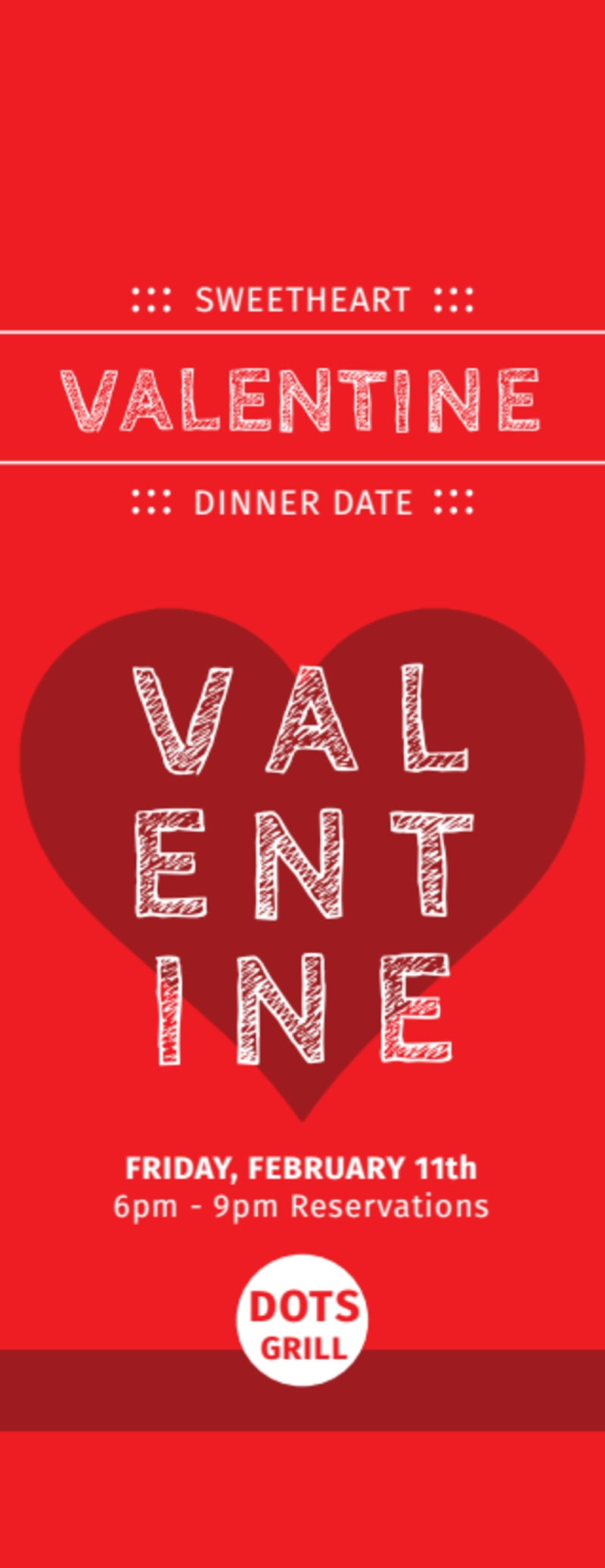Valentine Dinner Ticket Template Preview 2