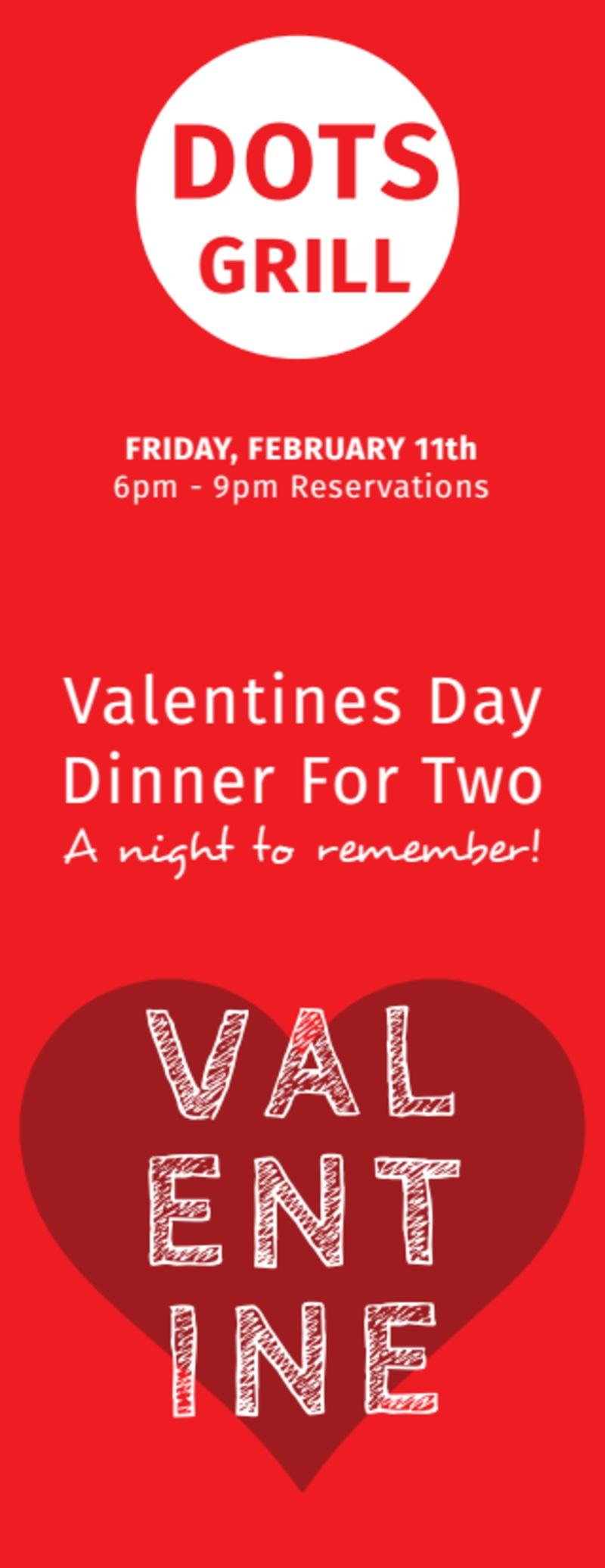 Valentine Dinner Ticket Template Preview 3