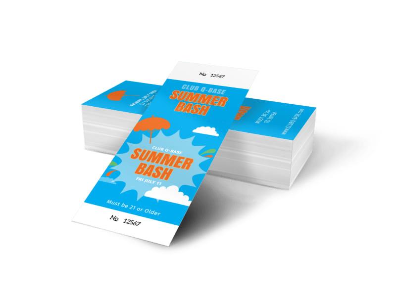 Summer Bash Ticket Template