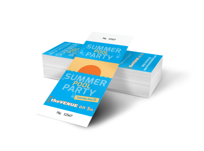 Summer Pool Party Ticket Template  Party Ticket Template
