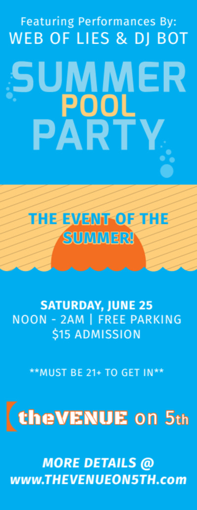 Summer Pool Party Ticket Template Preview 2