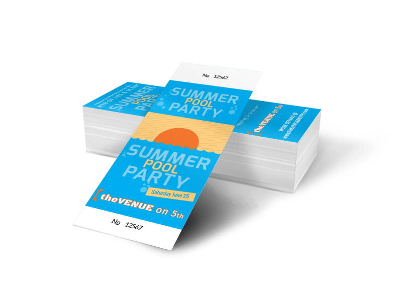Summer Pool Party Ticket Template Preview 1