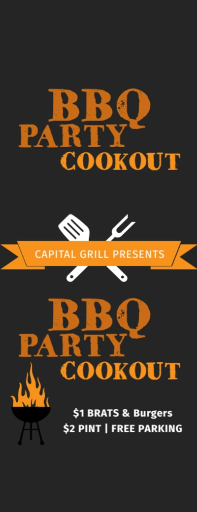 BBQ Party Cookout Ticket Template Preview 1