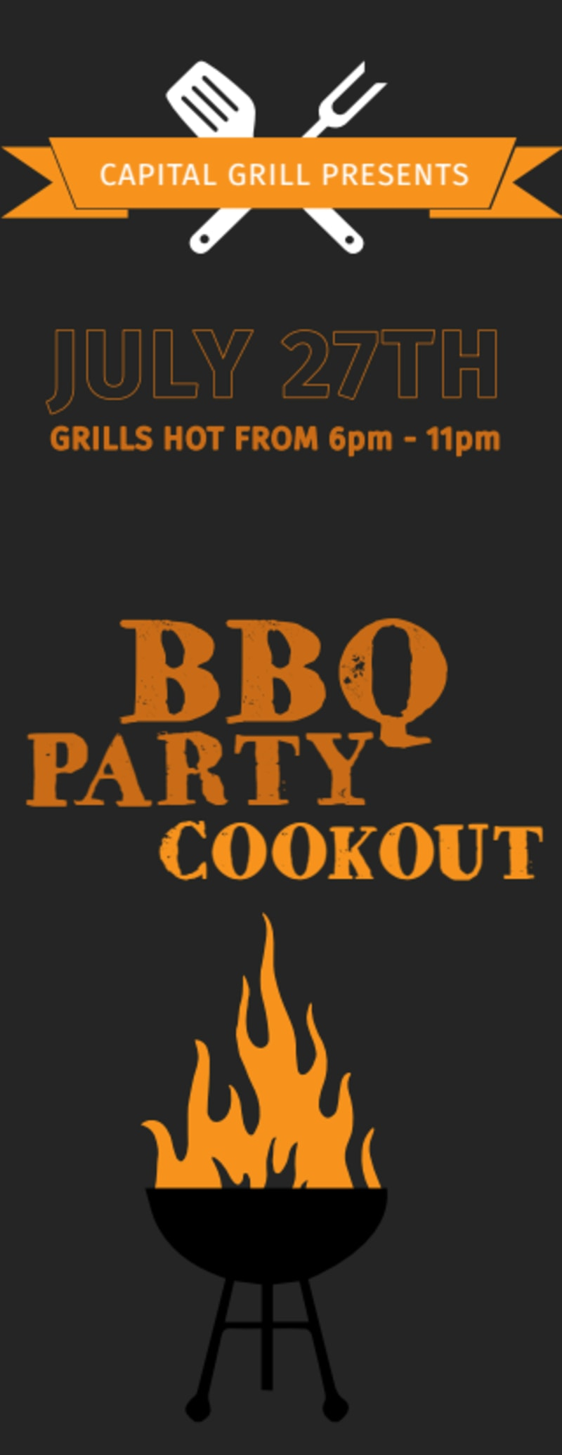 BBQ Party Cookout Ticket Template Preview 3