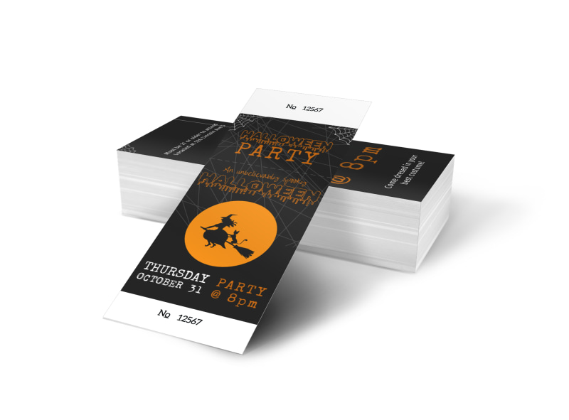 halloween party ticket template mycreativeshop