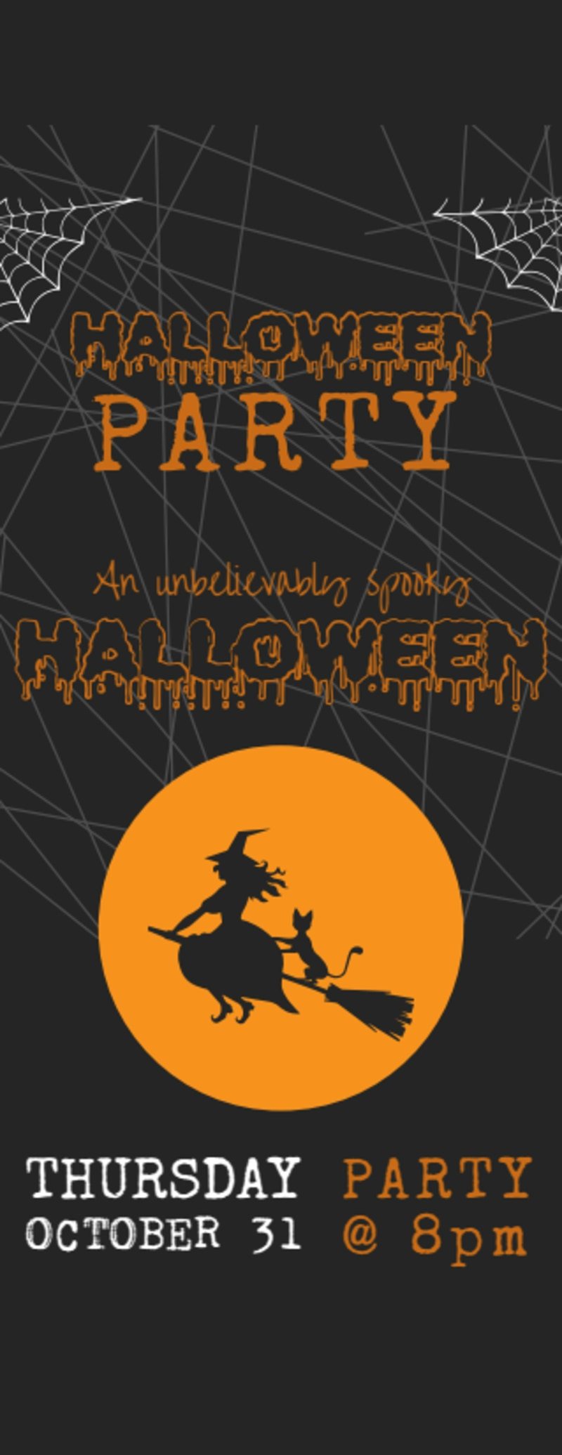 Halloween Party Ticket Template Preview 2
