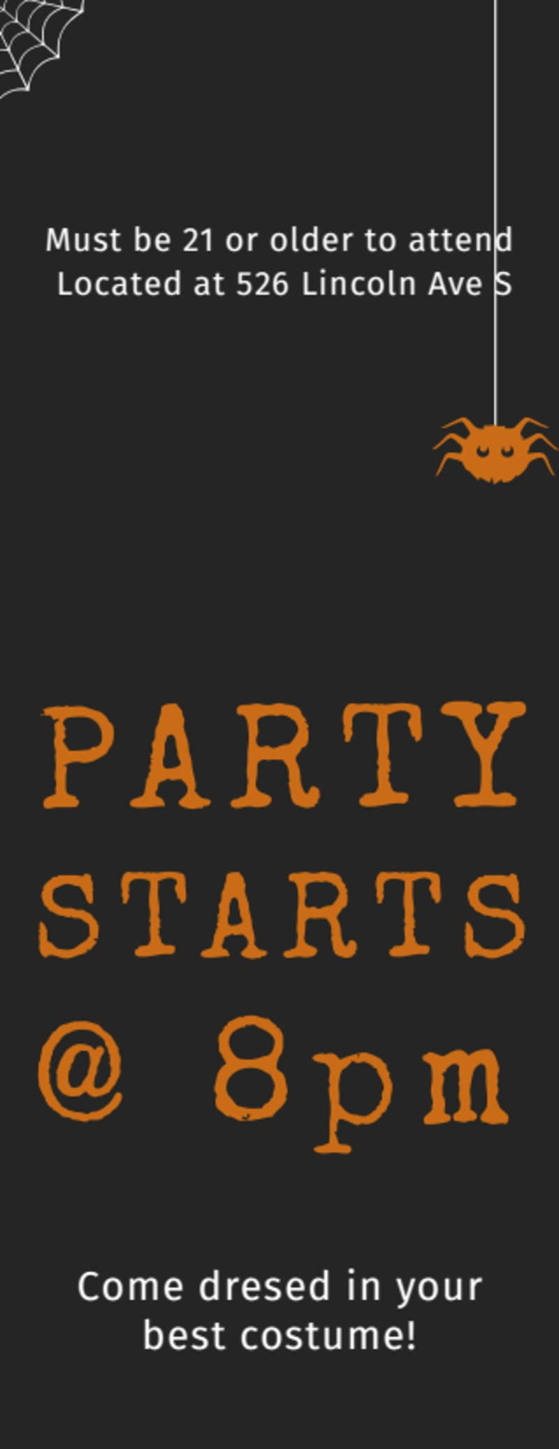 Halloween Party Ticket Template Preview 3