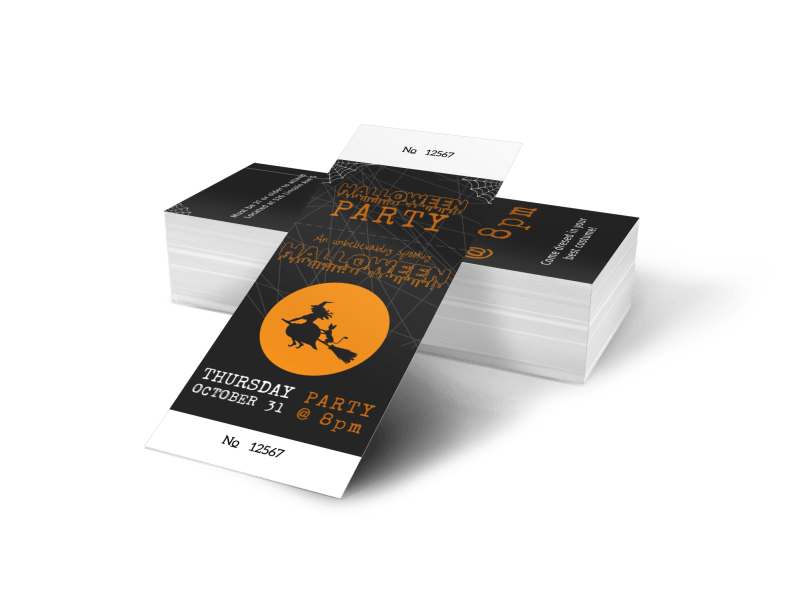 Halloween Party Ticket Template Preview 1