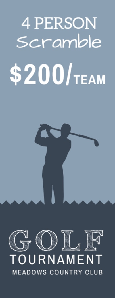 Golf Tournament Ticket Template Preview 2