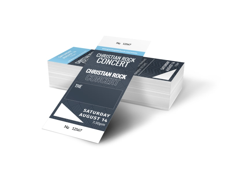 Christian Concert Ticket Template