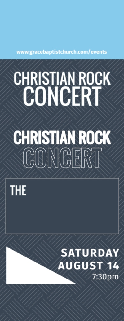 Christian Concert Ticket Template Preview 1