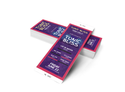 Tonic Bliss Music Concert Ticket Template 2