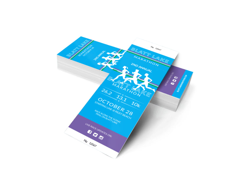 Blatt Lake Marathon Ticket Template 2