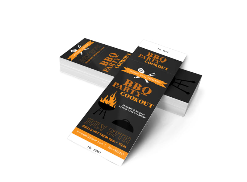 Bbq party cookout ticket template mycreativeshop for Bbq ticket template free