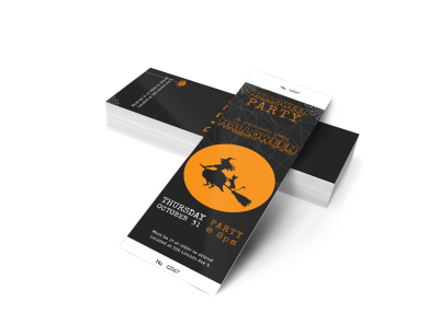 Halloween Party Ticket Template 2