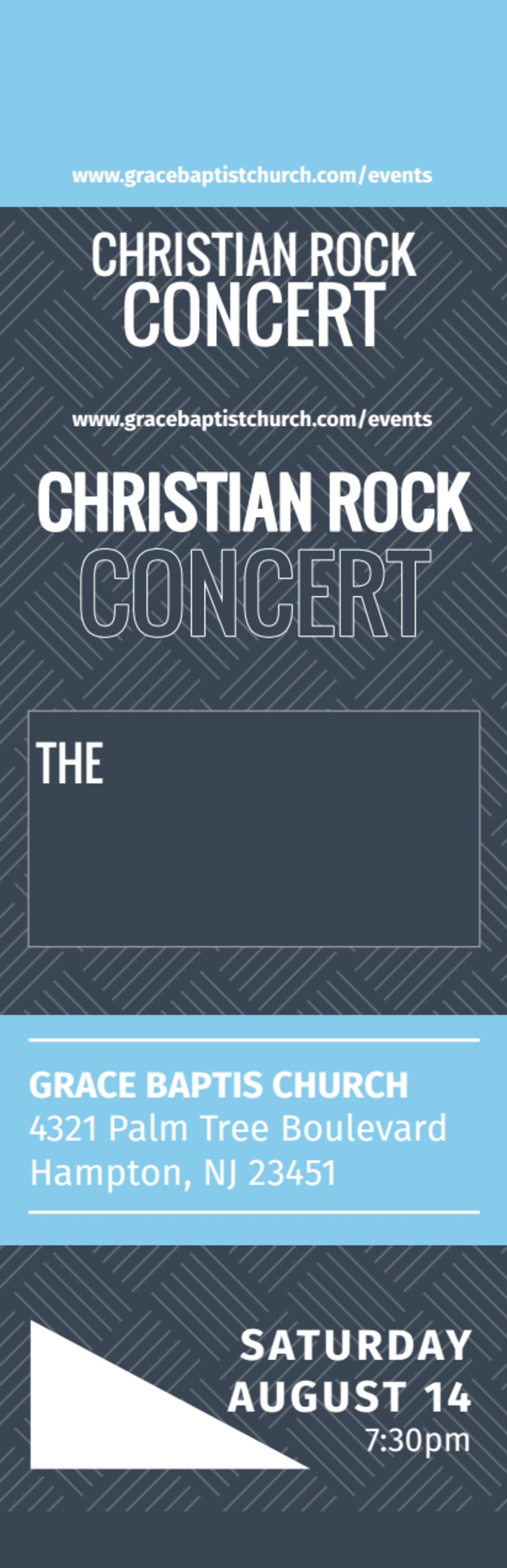 Christian Concert Ticket Template Preview 2