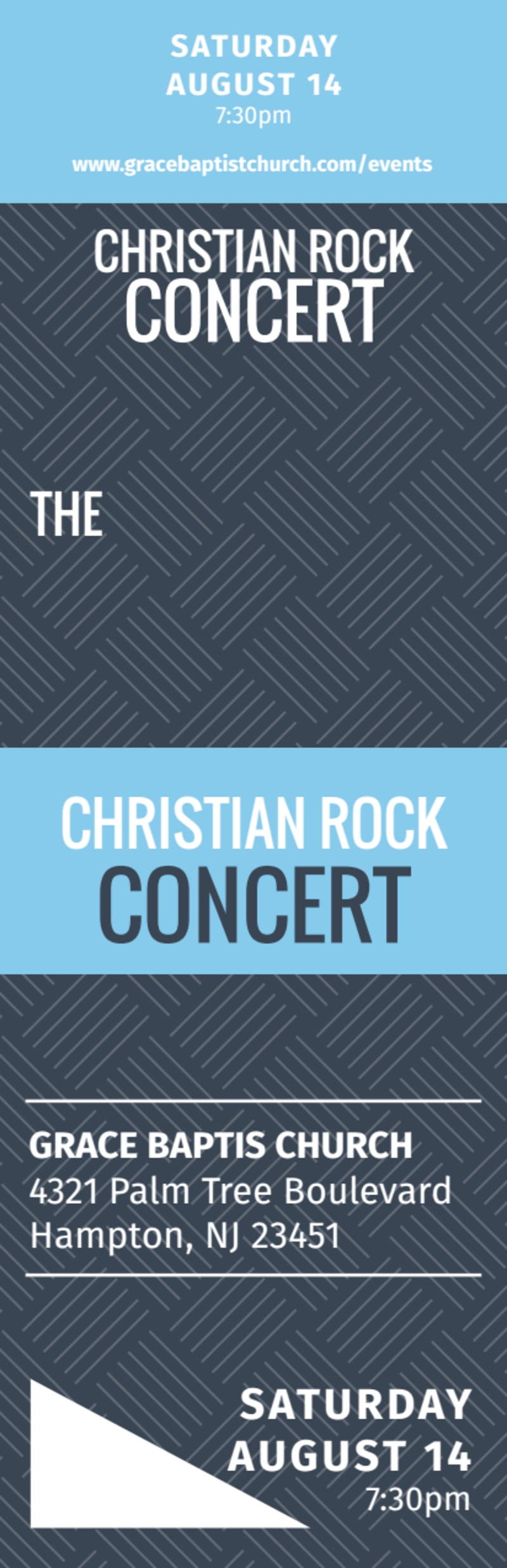 Christian Concert Ticket Template Preview 3