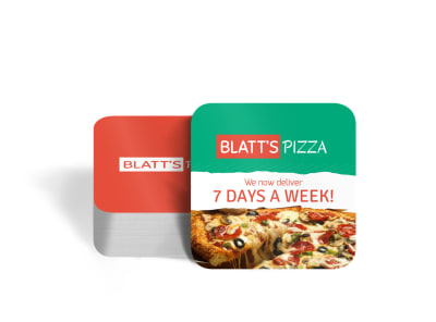Blatt's Pizza Square Coaster Template preview