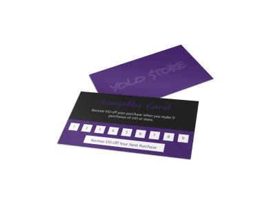 Yolo Store Loyalty Card Template