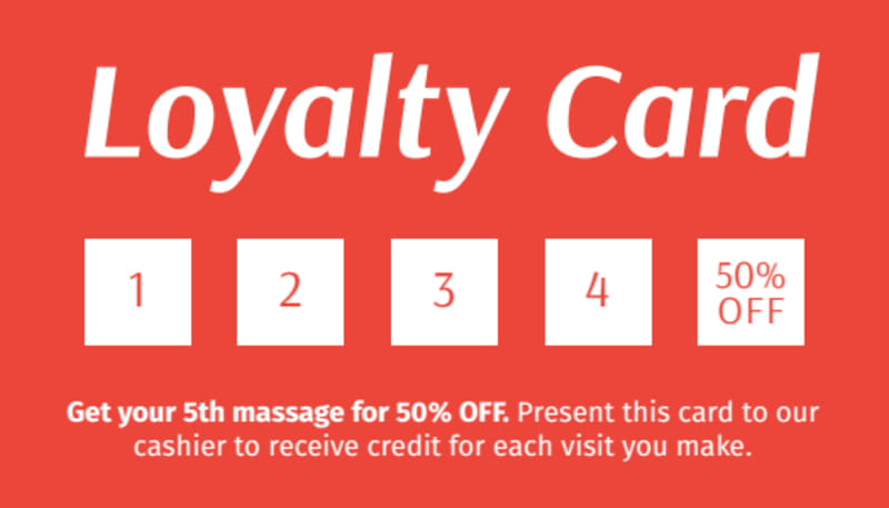 Massage Loyalty Card Template Preview 2