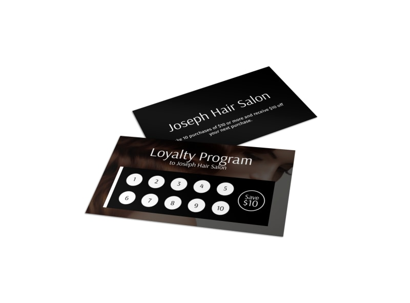 Joseph Hair Salon Loyalty Card Template