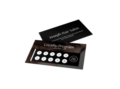 Hair Salon Loyalty Cards Template Preview