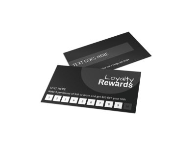 Generic Loyalty Card Template 16066