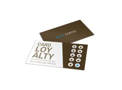 Mojo Coffee Loyalty Card Template