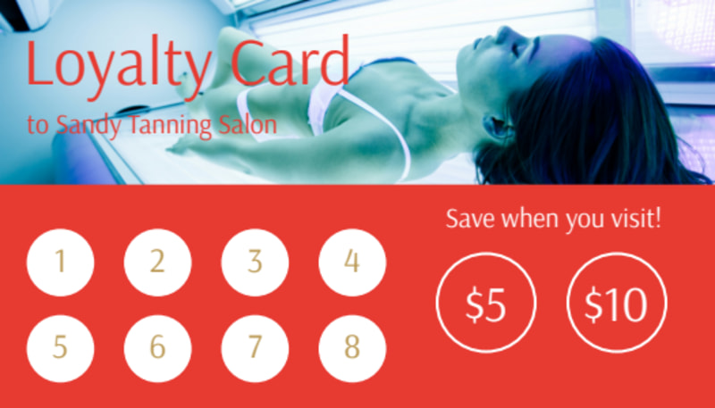 Sandy Tanning Salon Loyalty Card Template Preview 2