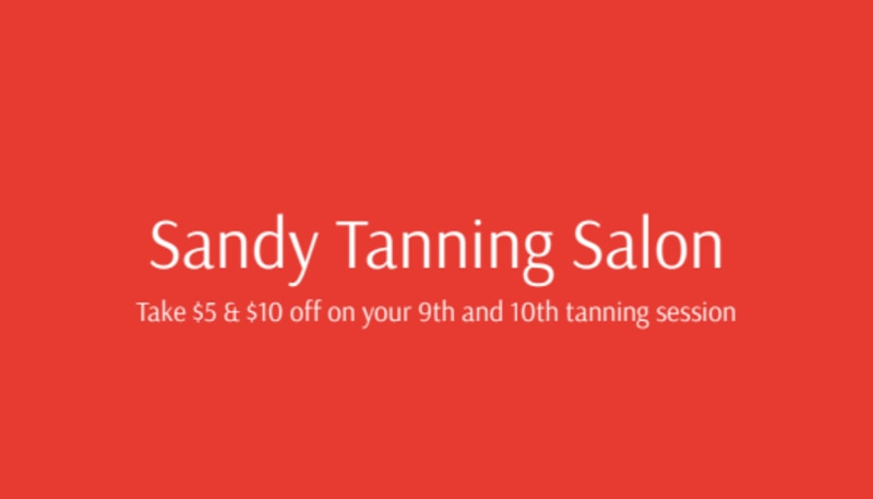 Sandy Tanning Salon Loyalty Card Template Preview 3