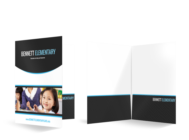 Bennett Elementary Bi-Fold Pocket Folder Template