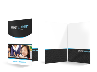 Bennett Elementary Bi-Fold Pocket Folder Template preview